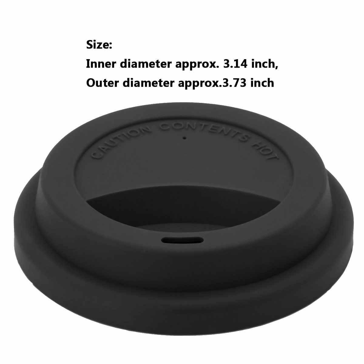 5 Reusable Piala Tutup Antileak Non Tumpahan Silikon untuk Perjalanan Mug Keramik Mug Kopi Teh Cangkir Air Dapat Digunakan Kembali Anti -Tutup Debu