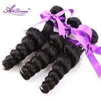 Alidoremi Peruvian Loose Wave 100% Human Hair Bundles Natural Color Remy Hair Free Shipping