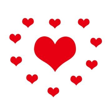 Hermosos parches de corazones rojos a la moda, pegatinas coloridas, apliques de hierro en transferencia de calor para ropa, parches diy, accesorios de ropa