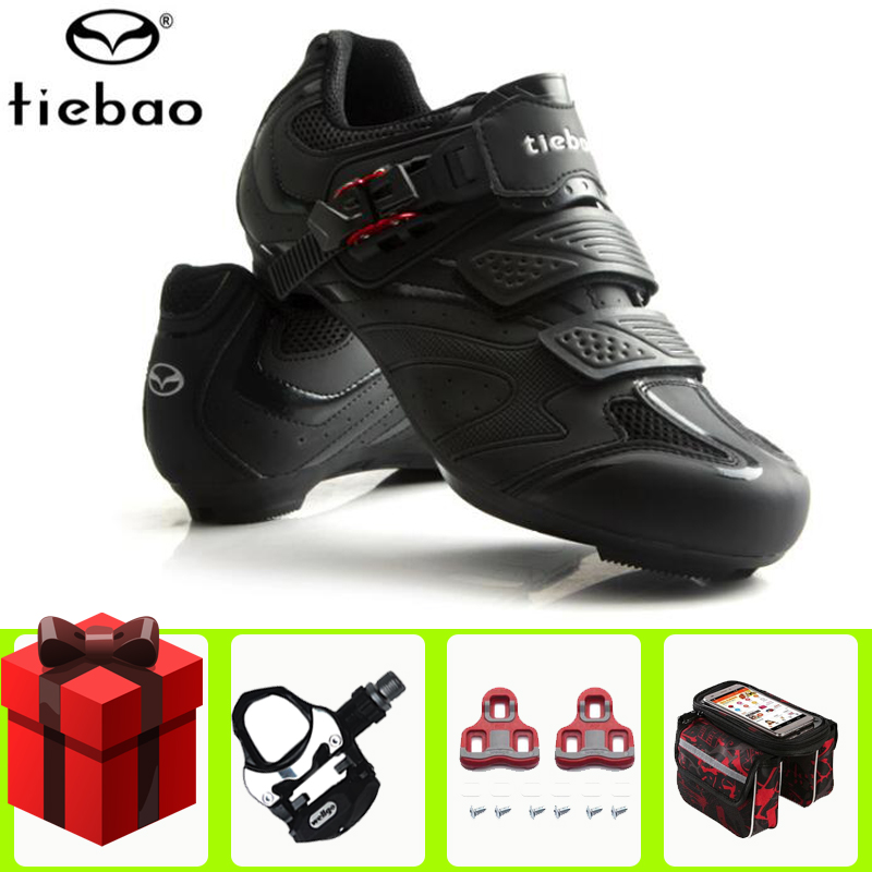 Tiebao Road Cycling Shoes men add Pedal set Unisex Breathable Self locking Bike Bicycle sneakers Sapatilha Ciclismo bike Shoes Cycling Shoes     - title=