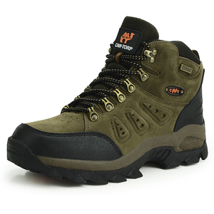 Image 4 - Men Women Outdoor Boots Winter Ankle Boots Warm Popular Footwear Male Suede Casual Snow Shoes Leather Walking Shoes Hunting Boot