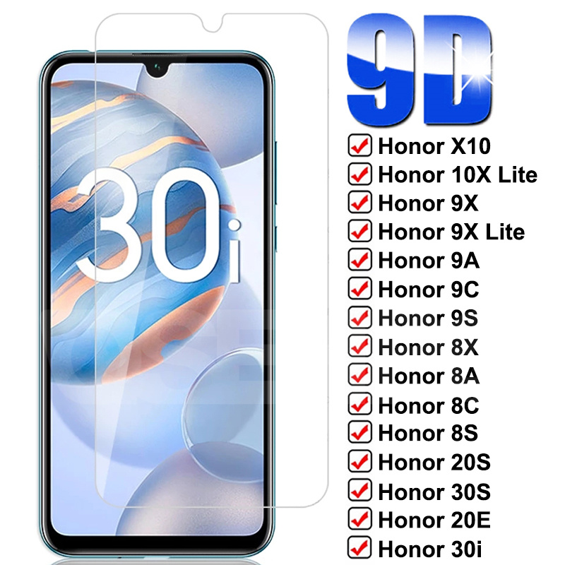 Защитное стекло 9D для Huawei Honor 10X 9X Lite X10 9A 9C 9S 8X 8A 8C 8S 20S 30S 20E 30i 20i, закаленное стекло для защиты экрана