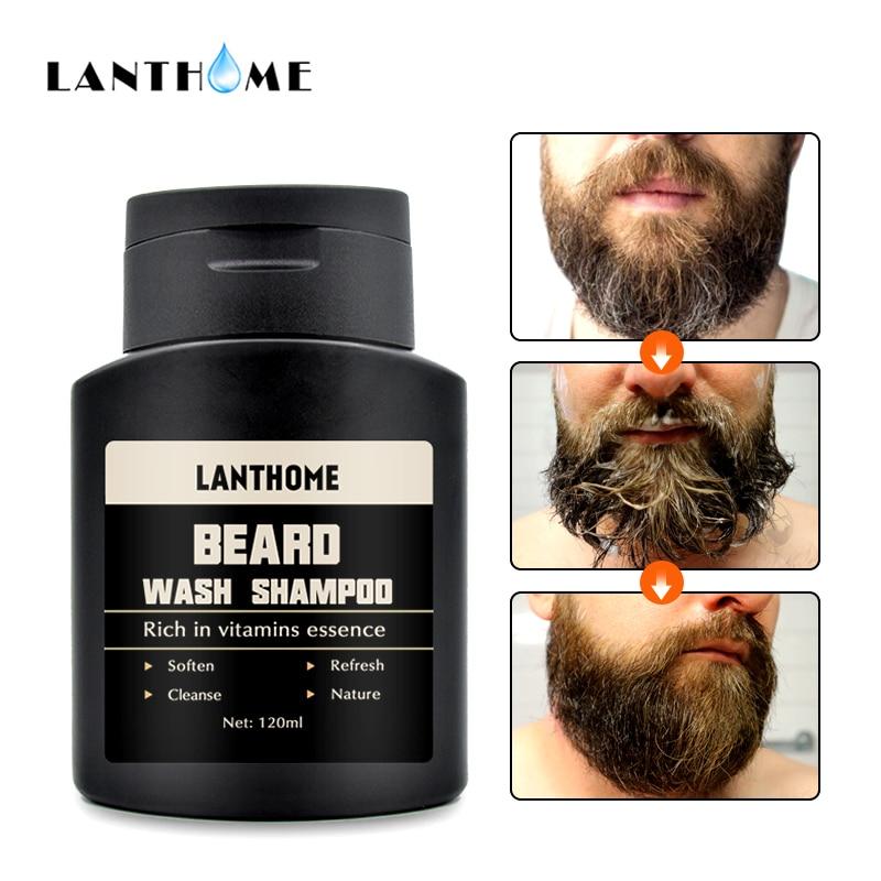 Beard Shampoo and Conditioner Anti Frizz Dandruff Shampoo Anti Hair Loss Beard Care Products Beard Oil Soften Nourishing For Men 2