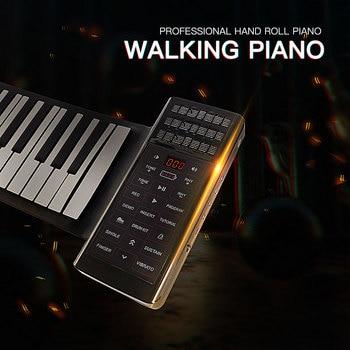 88 key piano keybord silicone roll up pinao keyboard music instrument with bluetooth midi key