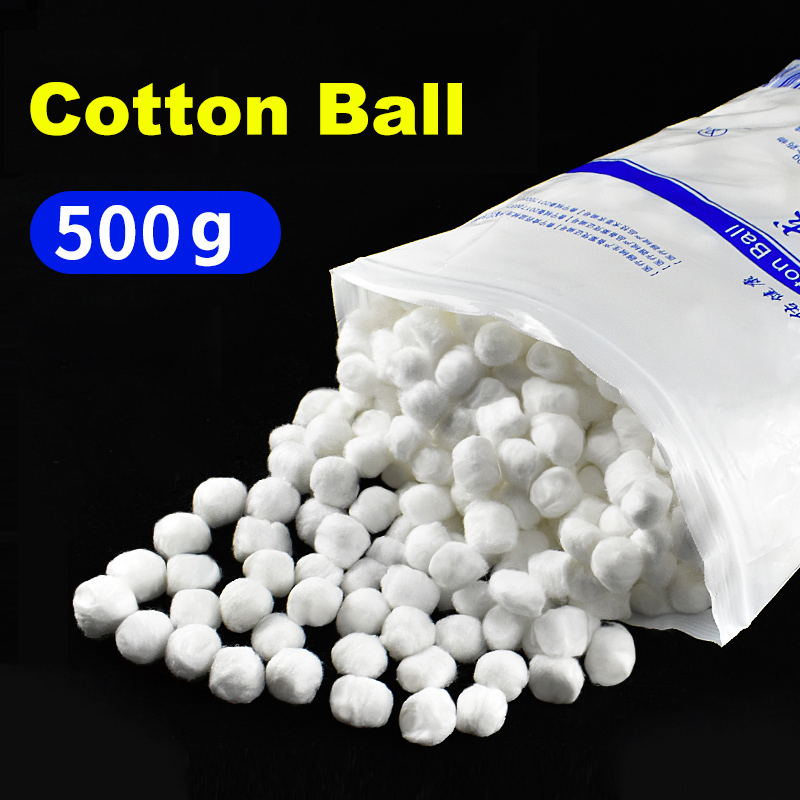 500g/Pack Medical Cotton Ball Wound Care Hemostasis First Aid Accessories Clean Wound Disposable Degreasing Medical Cotton