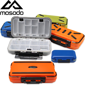 Mosodo Lure Fishing Tackle Boxes Double Layer Compartments Waterproof Fishing Storage Case for Fishing Hook Accessories Box(China)