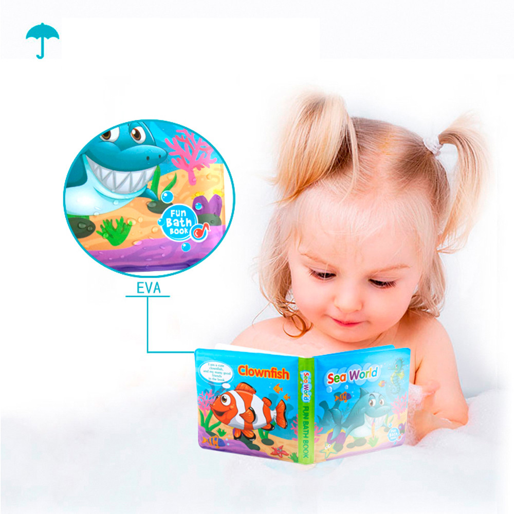 Baby Early Learning Bath Book Bath Books Baby Education Toy Intelligence Development EVA Floating Cognize Book L0218