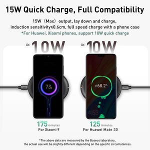 Image 2 - Baseus 15 w qi carregador sem fio para iphone 11 pro x xs xs max xr samsung carregador sem fio rápido para airpods earpods