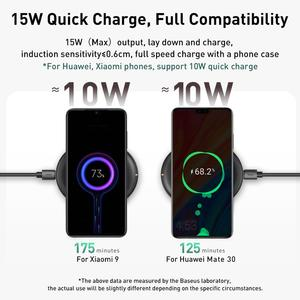 Image 2 - Baseus 15W Qi Wireless Charger for iPhone 11 Pro X Xs Xs Max XR Samsung wireless charger fast charger for airpods earpods