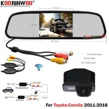 Автомобильная парковочная камера Koorinwoo HD CCD с ручкой для багажника, камера заднего вида для Toyota/Corolla 2011/2012/2013/2014/2015/2016 с монитором и зеркалом