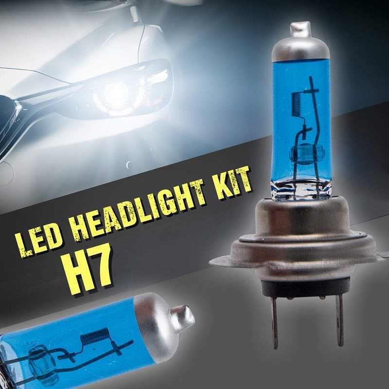 1Pair 12V H7 100W 8500K Super Bright Fog Light Halogen Bulbs Car Headlight White