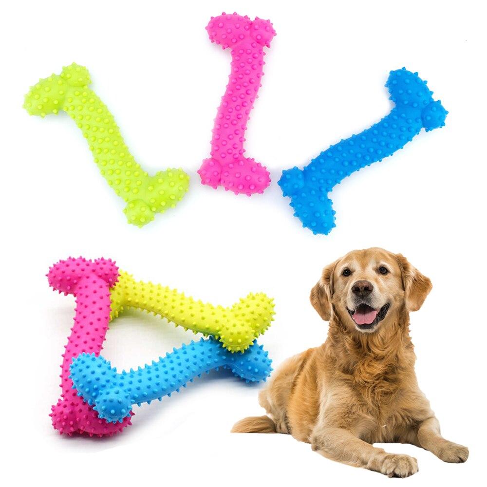Weiche Haustier Gummi Hund Spielzeug Gummi Knochen Biss Beständig Pet Spielzeug Hund Kauen Molaren Zähne Ausbildung Geruchlos Spielzeug Feste Produkte für Hunde