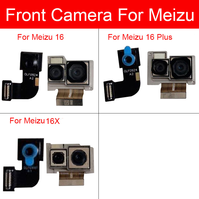 Front & Back Rear Camera Module For Meizu 16 16 16X Plus Small Facing Big Main Camera Flex Ribbon Cable Replacement Repair Parts
