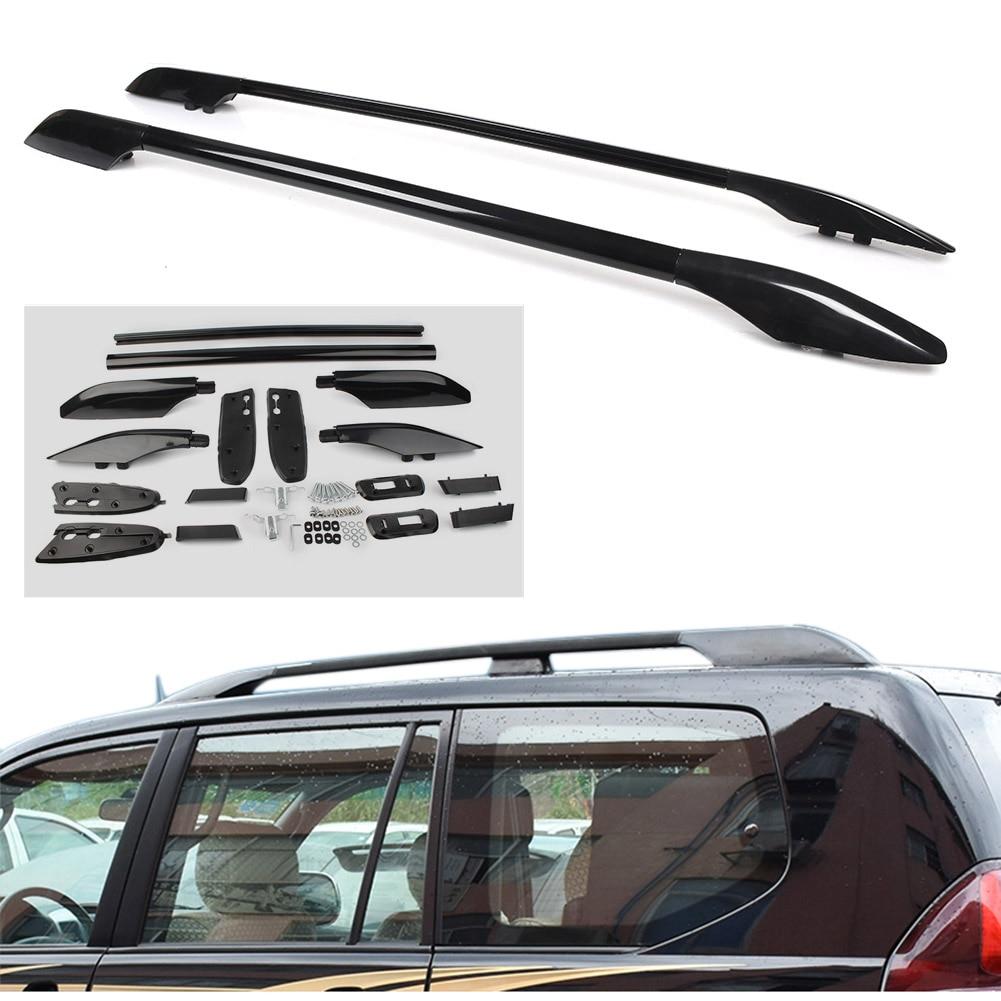 For Toyota Land Cruiser Prado FJ120 Car Roof Rack Rails Luggage Carrier Baggag Bars Fit 2003 2004 2005 2006 2007 2008 2009 Model|Roof Racks & Boxes| |  - title=