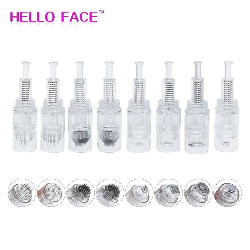 10pcs Screw Micro Needle Derma Pen Needle Cartridge Disposable Professional Microblading Cartridge For Dr.pen Electric Derma Pen