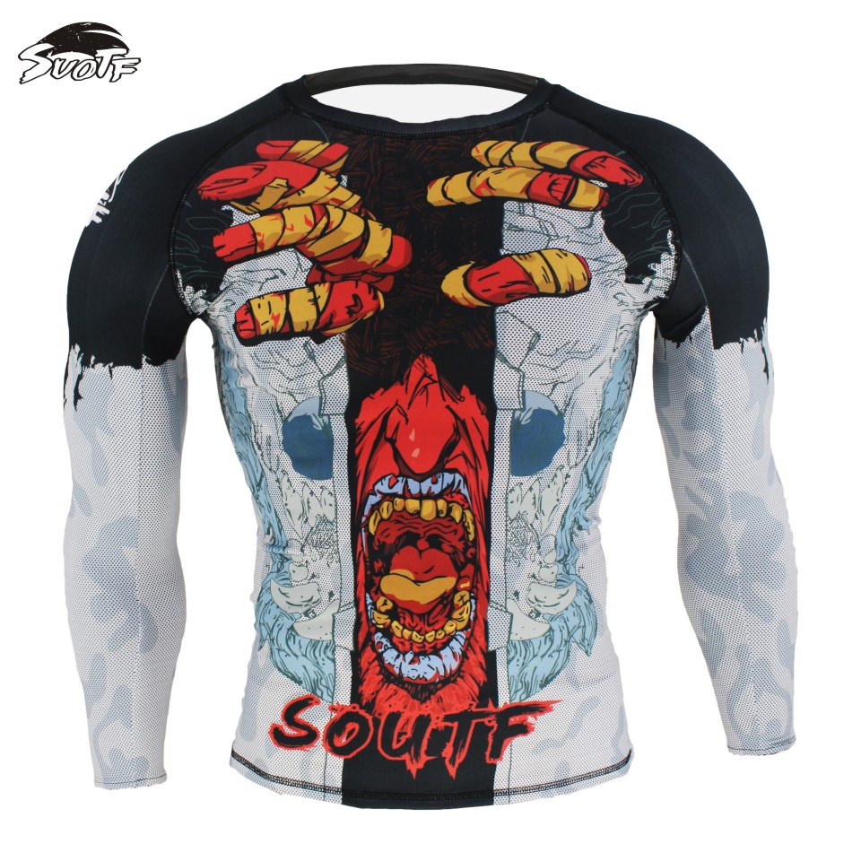SUOTF Ghost Series Domineering Fighting Boxing Fight Fitness Sweatshirt Mma Boxing Jerseys Tiger Muay Thai Clothes Boxing Suit