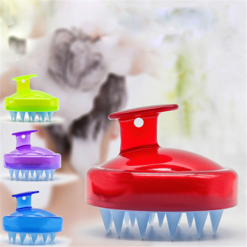 1PC Massage Silicone Brush Head Scalp Brush Comb Hair Washing Comb Shower Bath Brush Props