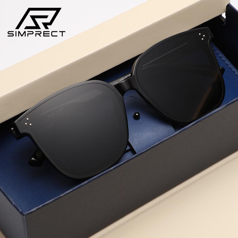 SIMPRECT Oversized Sunglasses Women 2020 Retro Square Sunglasses Men Luxury Brand Designer Sun Glasses Vintage Shades For Women