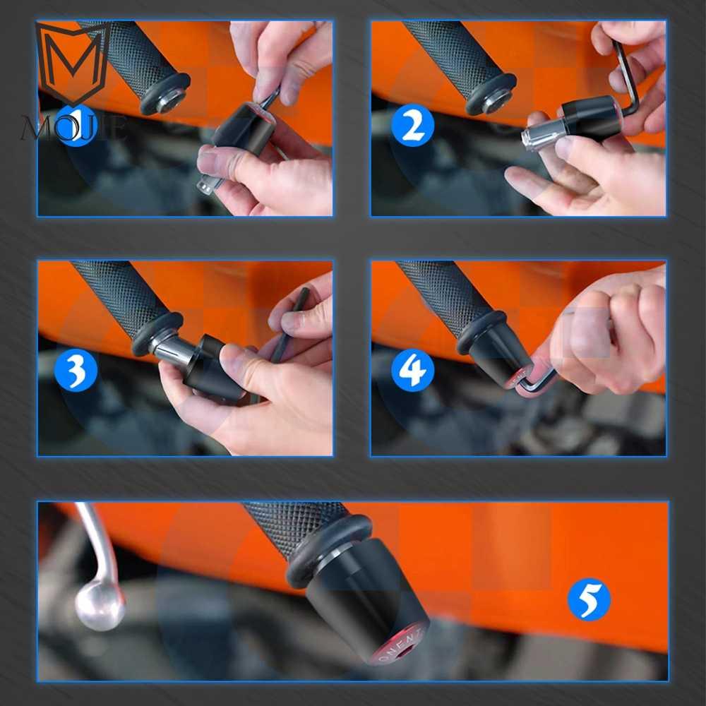 "7/8 ""22 Mm Motor Stang Grip Ujung Pegangan Tutup Bar End Plug untuk Honda CB600F CB 600F CB 600 F Hornet 1989-2013 2012 2011"