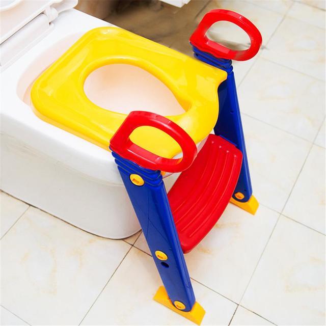 Kidlove Children Folding Toilet Ladder Baby Toilet with Pedal Adjustable Version 5