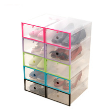 5pcs/set DIY Shoe Box Foldable Transparent Home Storage Box Plastic Drawer Divider Save Space Thickened Shoe Organizers Rack waterproof oxford cloth underwear storage box home storage kit drawer closet organizers save space foldable 13 grids