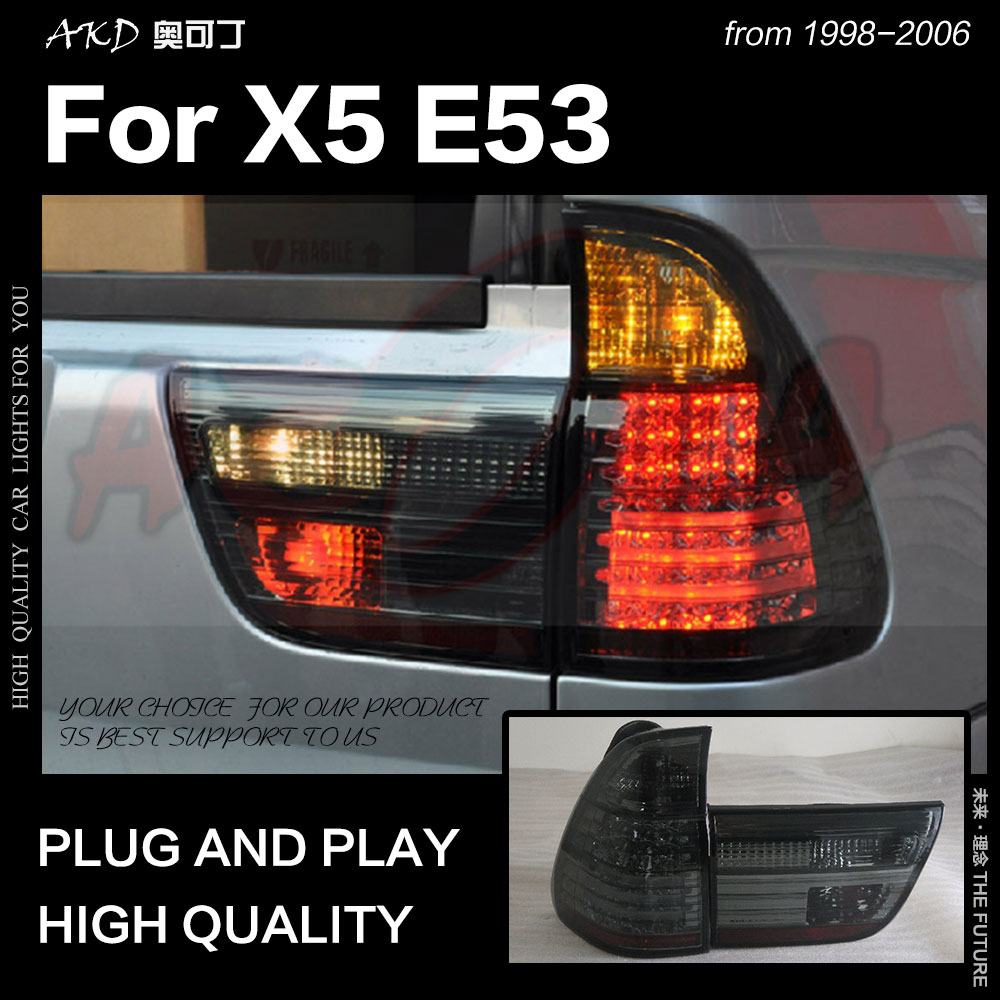 AKD Car Styling for BMW X5 <font><b>E53</b></font> Tail Lights 1998-2006 X5 LED Tail Light Tail Lamp LED DRL Signal Brake Reverse auto Accessories image