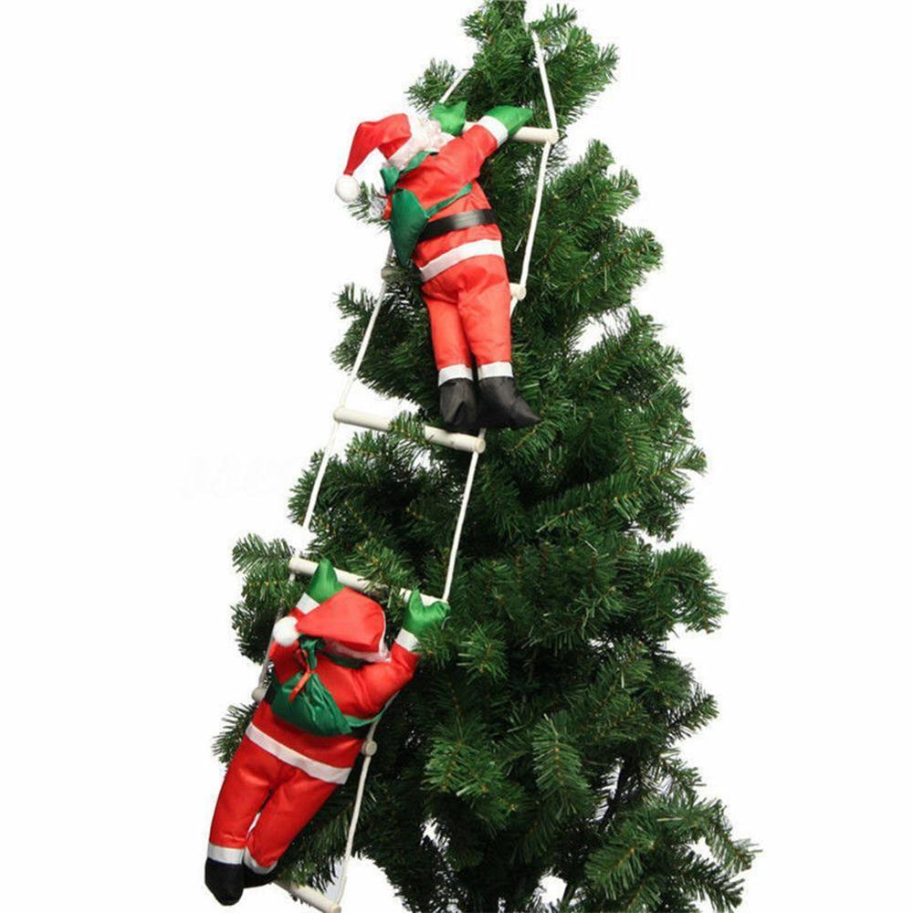 1pcs New Fashion Baby Kids Christmas Novelty Toys Santa Claus Dolls Climb On Rope Ladder Christmas Trees Hanging Decoration Stuffed Plush Animals Aliexpress