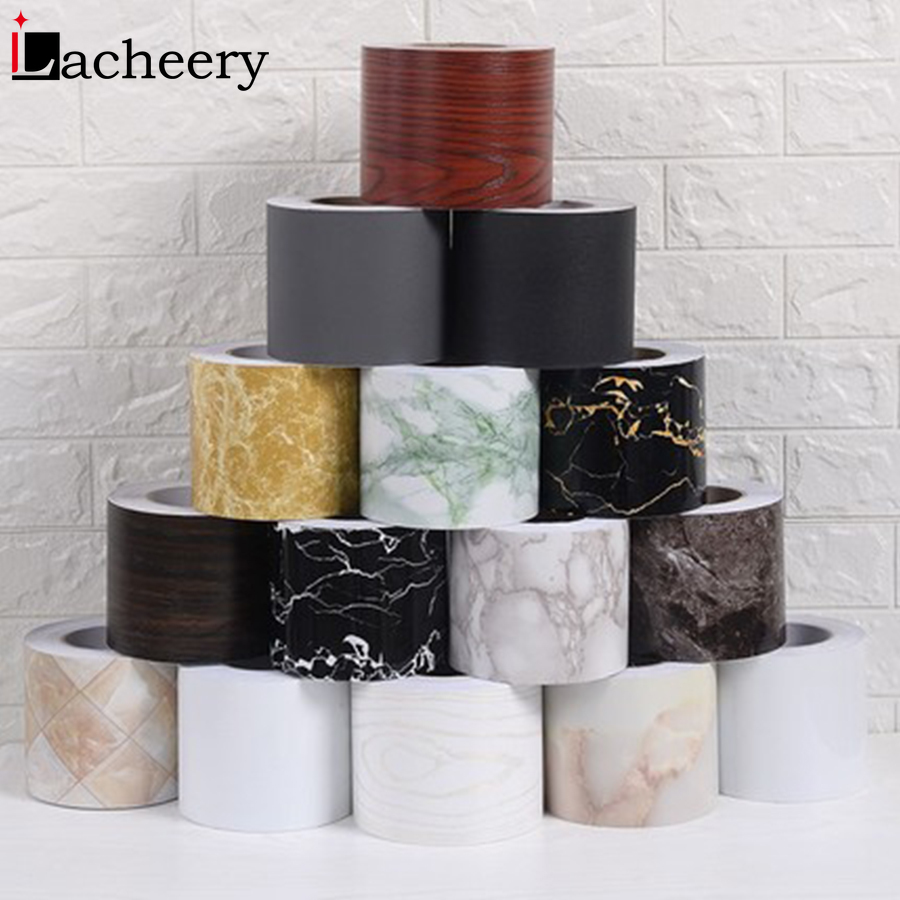 5M/10M Black Waist Line Stickers Modern Decorative Baseboard Living Room Waterproof Self Adhesive Vinyl Wallpaper Border Decals