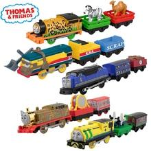 Original Electronal ThomasและFriendsของเล่นรถไฟฟ้า 1:43 Diecastรถไฟโลหะมอเตอร์Thomaรถไฟของเล่นใช้แบตเตอรี่