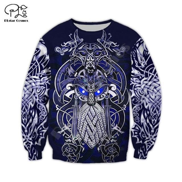 Viking Warrior Tattoo 3D Full Print Hoodie/Sweatshirt/Jacket 2