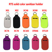 Bottle Cover Keychain Hand-Sanitizer Portable Travel 30ml with Outdoor Pure-Color