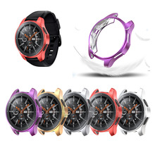 9 Colors Soft Tpu Case For Samsung Galaxy Watch 46MM Protective Silicone Shell Cover Sreen Protector Gear S3 band