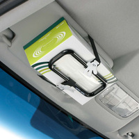 Napolex Car Mounted Tissue Box Rack Creative Hanging Paper Extraction Box Car Hanging Sun Shade Chair Cute Tissue Box