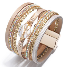 Ladies Bracelets Chain Natural-Shell Romantic Glamour Weaving Baroque Rival Lady