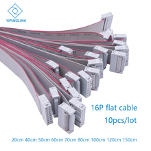 จอแสดงผลLED 16 P 16 Pin Flat Cable 20 ซม.40 ซม.50 ซม.60 ซม.80 ซม.ทองแดงบริสุทธิ์ริบบิ้นแบนข้อมูลLedโมดูลตัวรับสัญญาณสัญญาณสาย