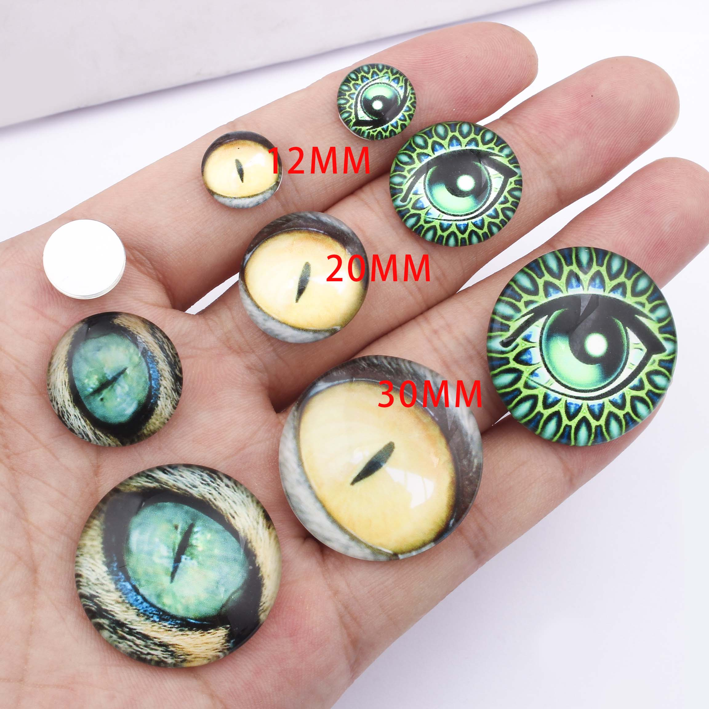 Photo Glass Cabochons Handmade Glass Dome 8mm 10mm 12mm 14mm 16mm 18mm 20mm 25mm 30mm G943