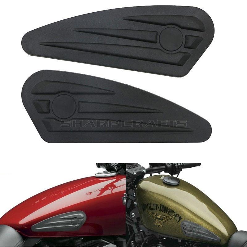 Бензобак Мотоцикла Колодки антискользящее покрытие в области ладоней Тяговый коврик наклейка боковой топливный наклейки для Harley Sportster XL 883 1200X48 Street XG750