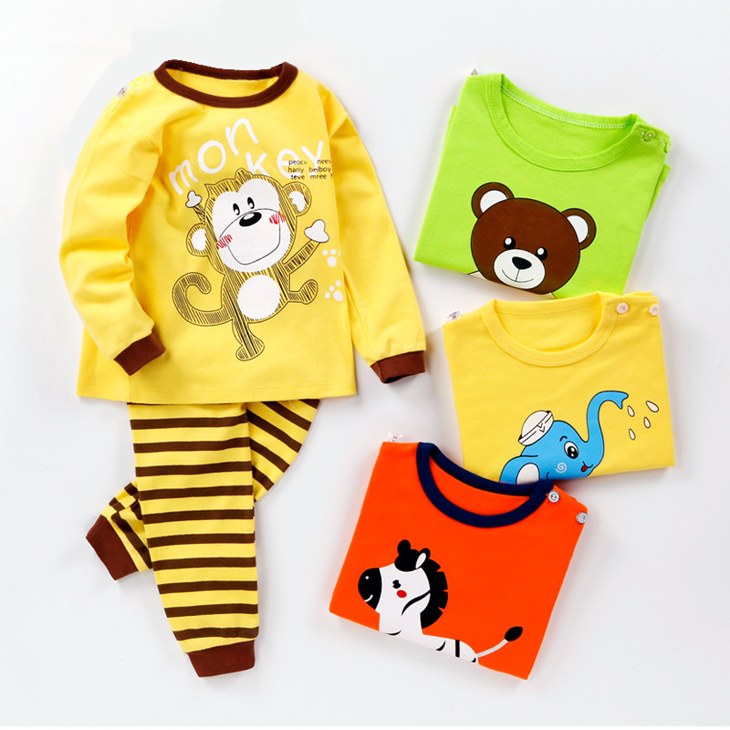 CYSINCOS Autumn Winter Boys And Girls Long Sleeved Cotton Underwear The Fall Pajamas Kids Baby High Waist Protection Belly Pants