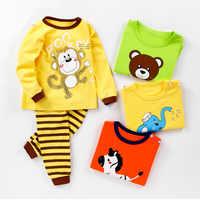 CYSINCOS Herbst Winter Jungen Und Mädchen Mit Langen Ärmeln Baumwolle Unterwäsche Die Fallen Pyjamas Kinder Baby Hohe Taille Schutz Bauch Hosen