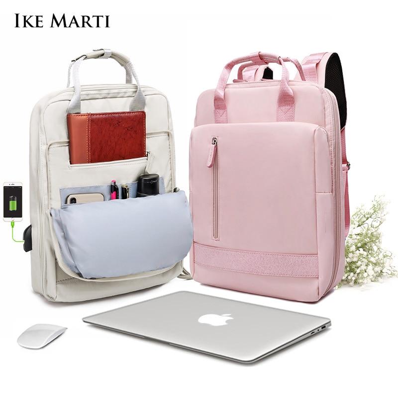 IKE в западном стиле женские рюкзаки Рюкзак Школьная Сумка для девочек модные Sac A Dos femme 2021 человек Водонепроницаемый зарядки 15,6 дюймов рюкзак...