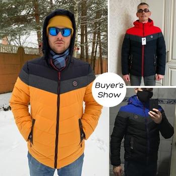Men 2021 Winter Brand New Casual Warm Thick Waterproof Jacket Parkas Coat Men New Autumn Outwear Windproof Hat Parkas Jacket Men 4