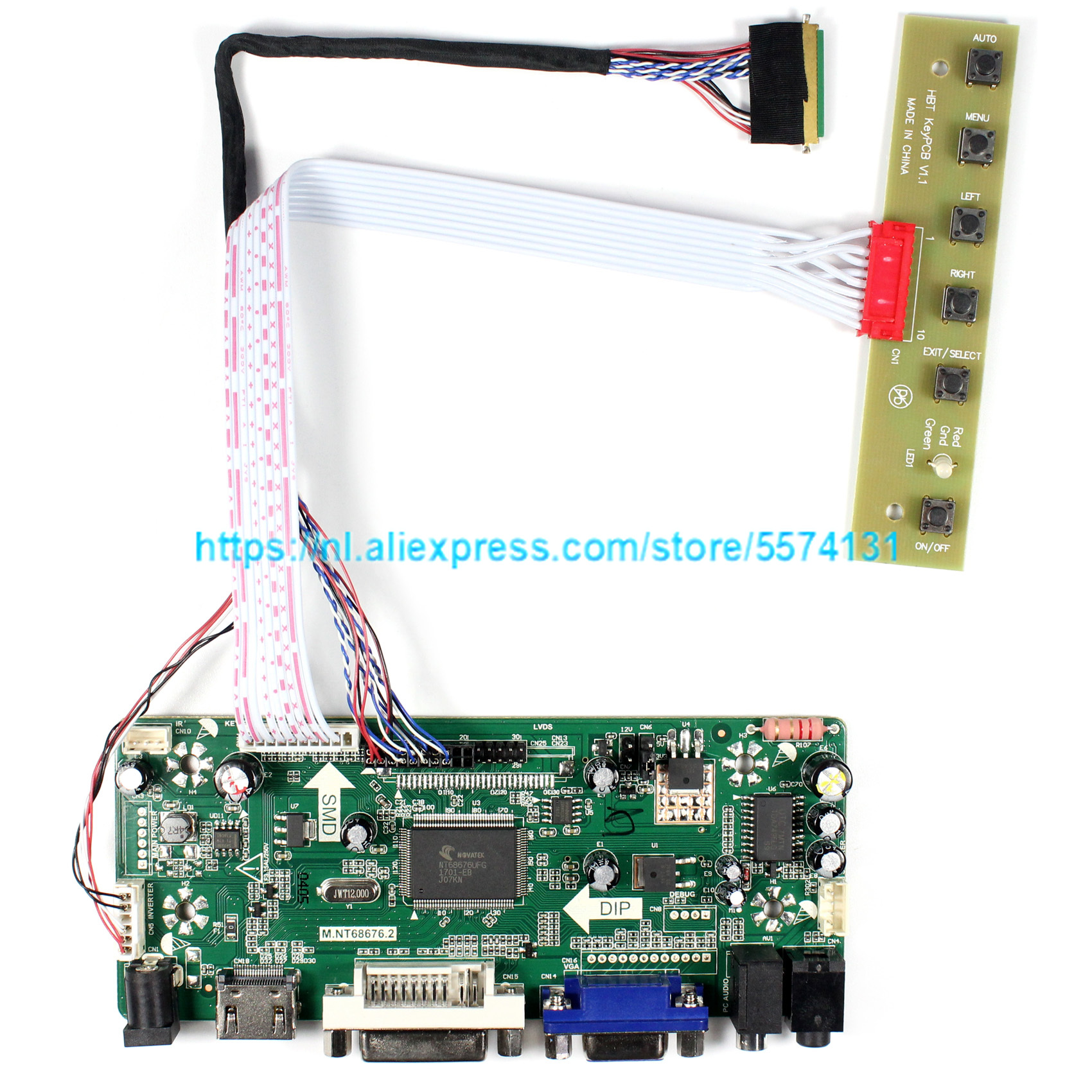Control <font><b>Board</b></font> Monitor Kit for <font><b>B156XW02</b></font> V1 / <font><b>V3</b></font> / V6 <font><b>B156XW02</b></font> V7 HDMI + DVI + VGA LCD LED Screen <font><b>Controller</b></font> <font><b>Board</b></font> Driver image