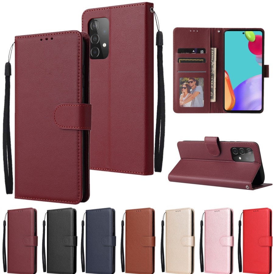 For Samsung A52 A72 A71 A01 A02 S A11 A12 A21S A22 A31 A32 A41 A42 A51 A71Flip Leather Wallet Case For Galaxy A6 A7 A8 2018 Case