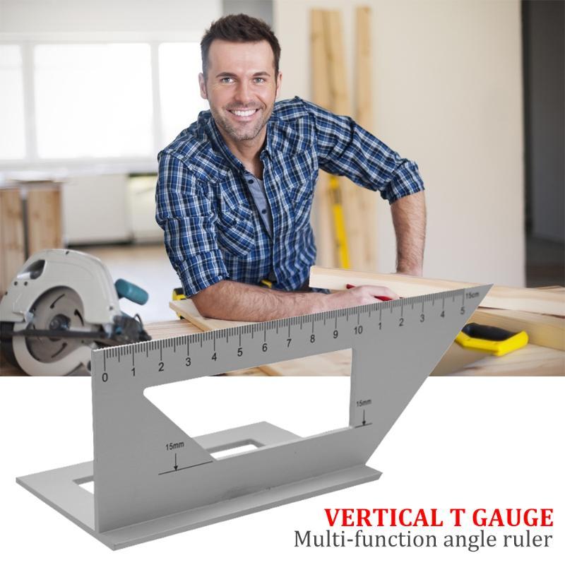 Regla de ángulo multifunción 45/90 almacenamiento razonable y acceso conveniente combinación de escuadra de transportador de carpintería