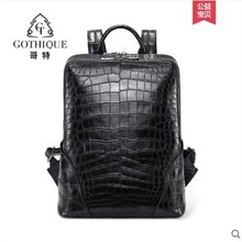 gete new true Crocodile skin backpack for men Thai leather crocodile belly