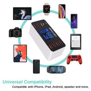 Image 5 - Ledディスプレイ 8 ポートマルチ高速usb充電器急速充電 3.0 複数のusb電話充電ステーションユニバーサルusbハブ充電器qc 3.0