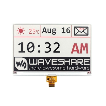 Waveshare 7.5Inch E-Ink Raw Display 640X384 E-Paper Red Black and White Three-Color Display,SPI Interface,Without PCB