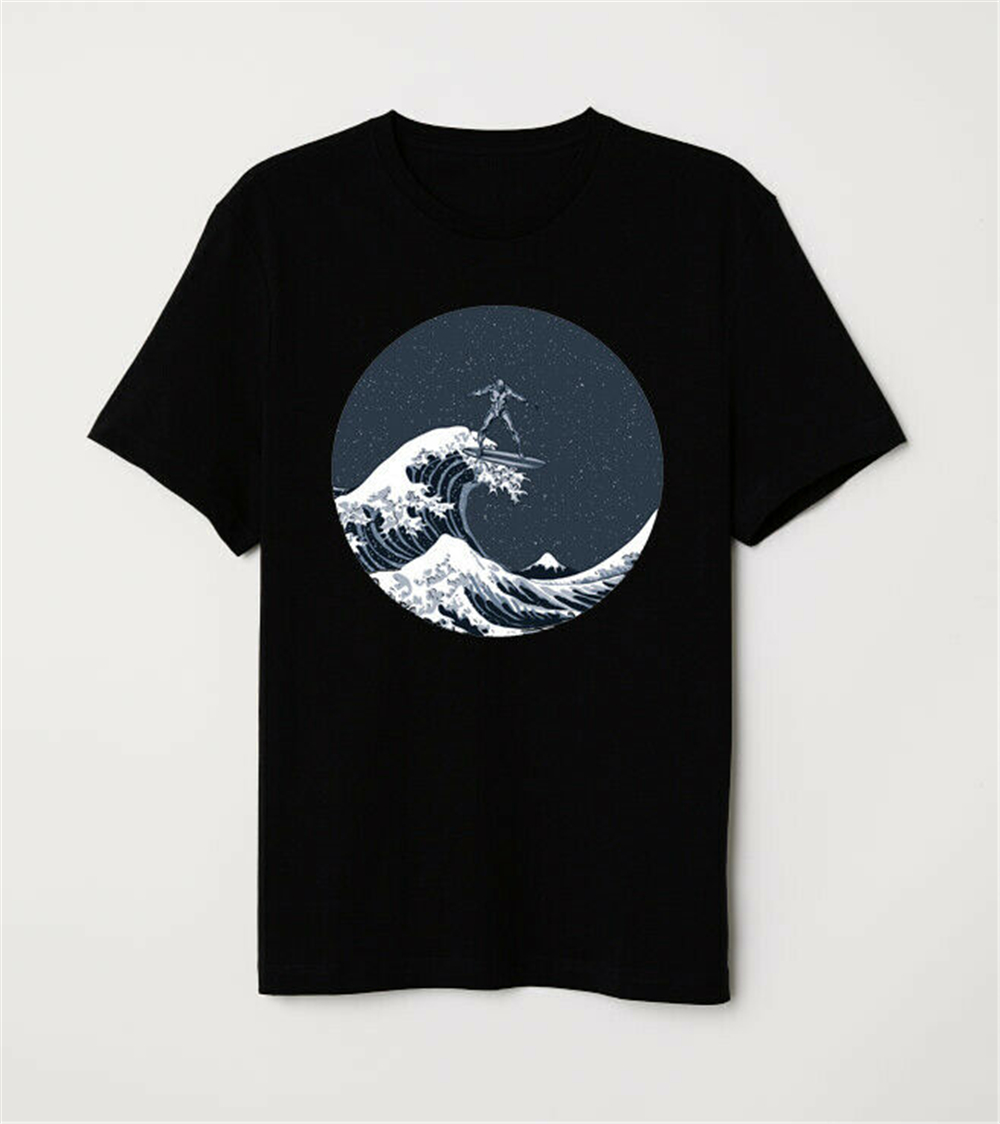Surfing With The Alien Men/'s T-shirt Great Wave off Silver Surfer Galactus