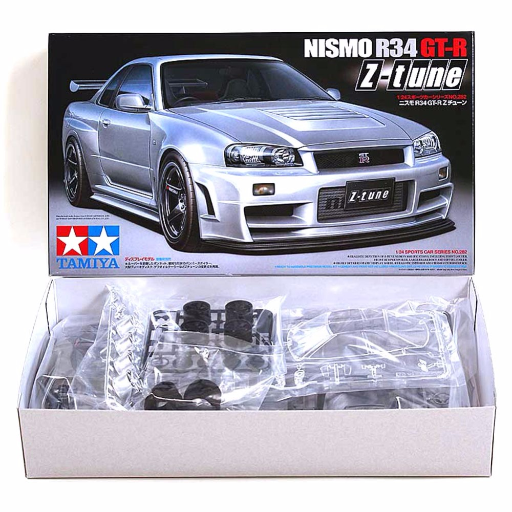 Tamiya 24282 Model Car Assembly Building Kits 1/24 Scale Nismo Skyline GTR R34 Z-Tune Toys For Children And Adults