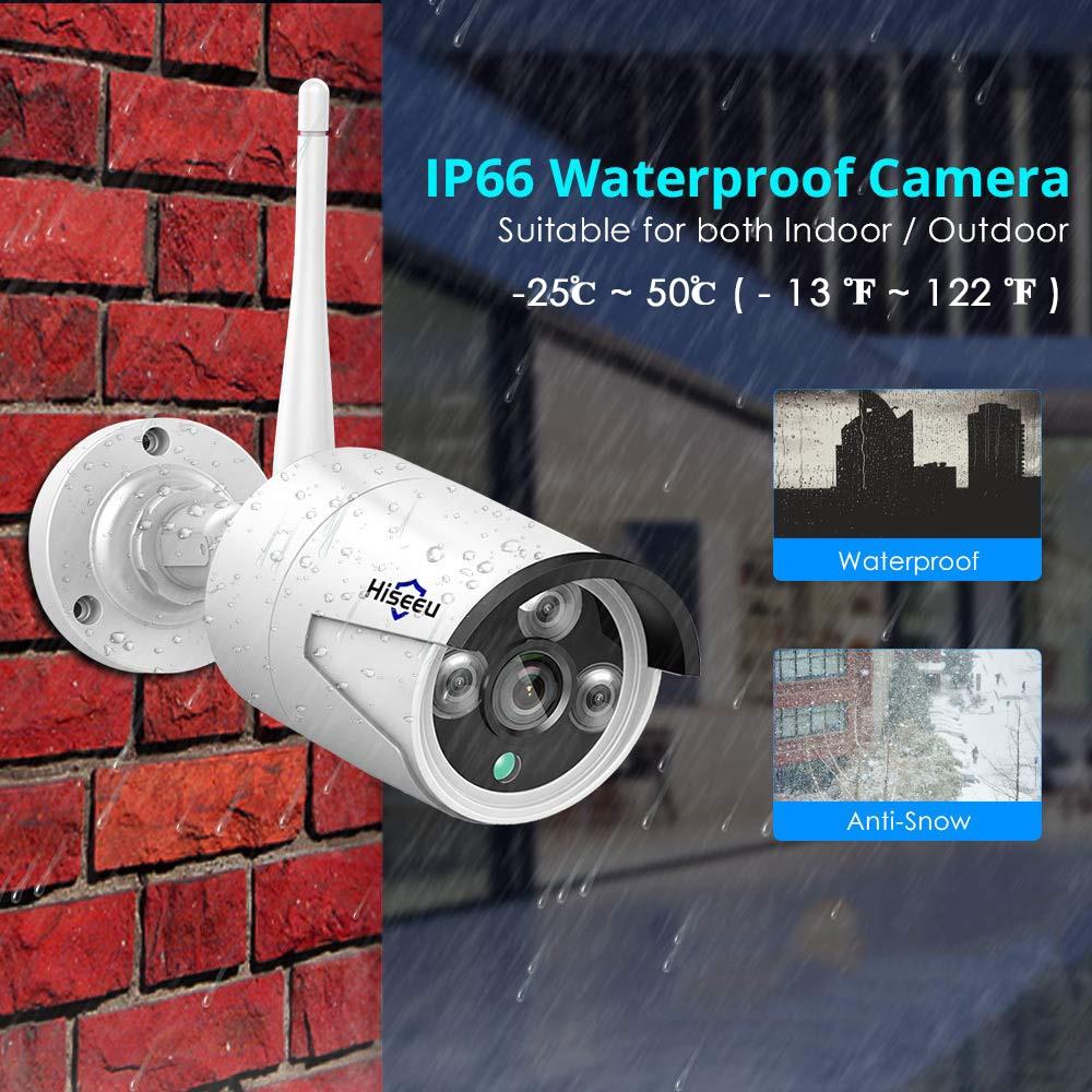 Hiseeu 1080P Wireless IP Camera 3.6mm Lens Waterproof Security WiFi Camera for Hiseeu Wireless CCTV System Kits IP Pro APP View